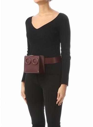 Boyy Bag Bel Çantası Bordo